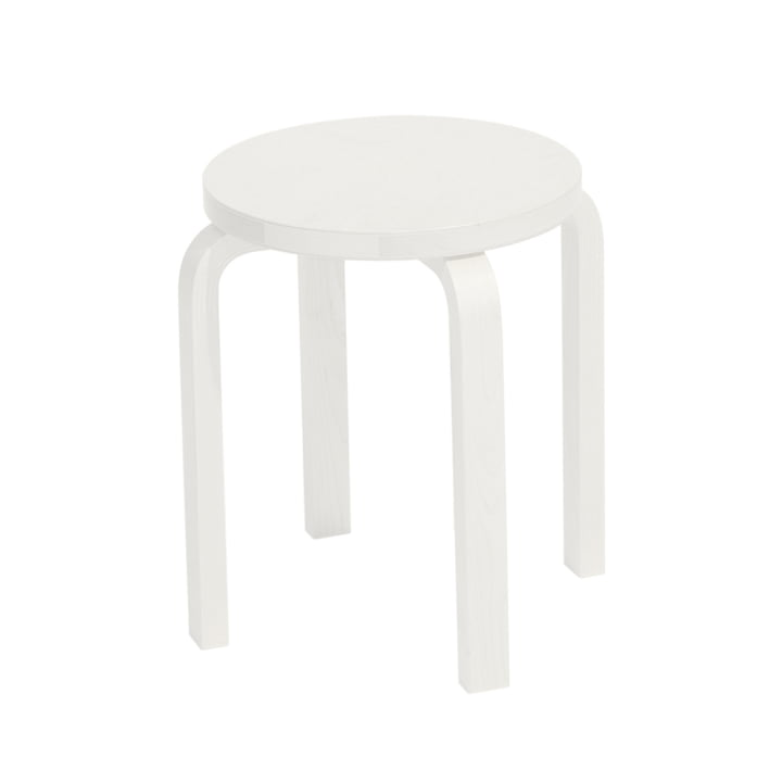 Stool E60 by Artek in White