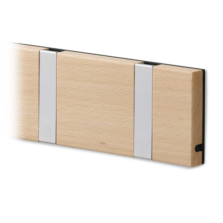 LoCa - Knax cloak rail, lacquered maple