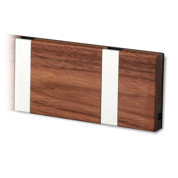Knax wardrobe rail from LoCa in walnut / grey