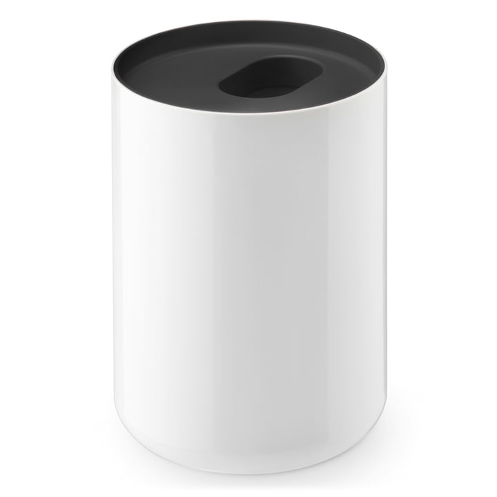 Lunar rubbish bin by Depot4Design in white / black