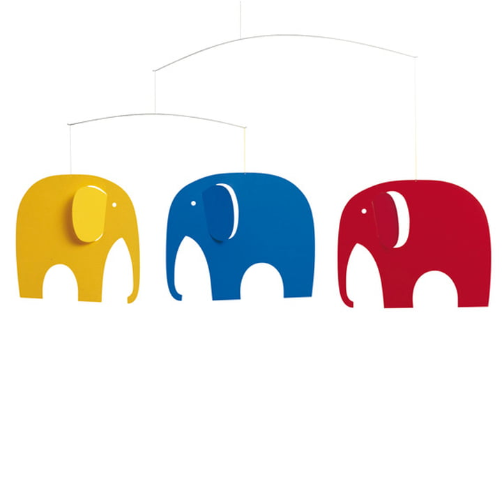 Elephants meeting mobile from Flensted Mobiles