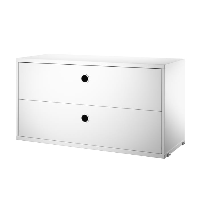 String Chest with drawers, white