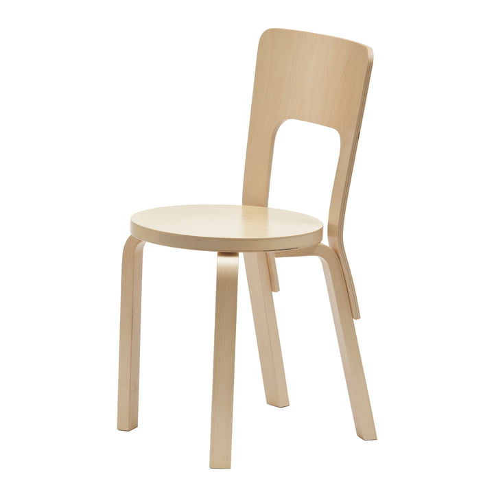 Artek 66 Chair, birch veneer