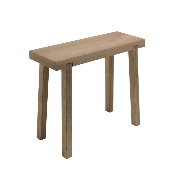 Stool stool from side by side made of oak wood
