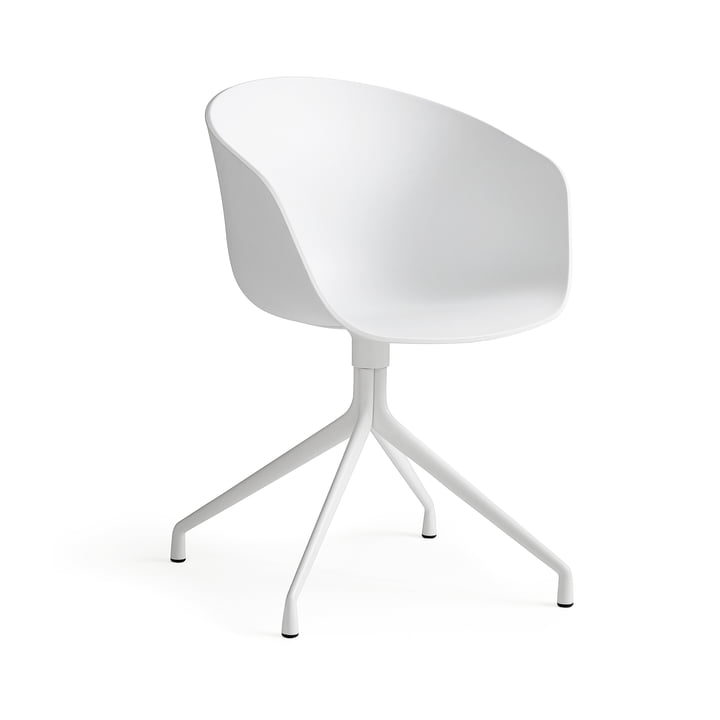 Hay About a Chair - four-leg frame with armrests, white