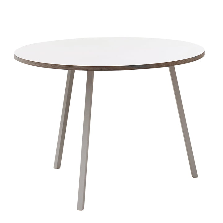 Hay - Loop Stand Round Table, white