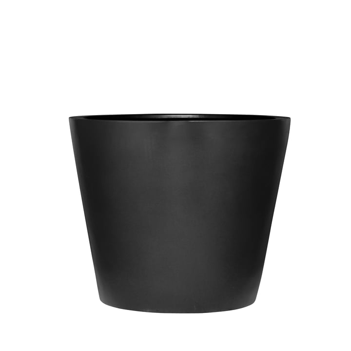 amei - The Round One Planter, S, black