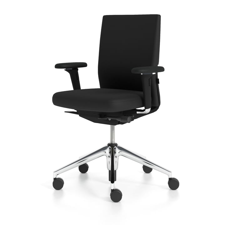 Vitra - ID Soft, nero / aluminium polished