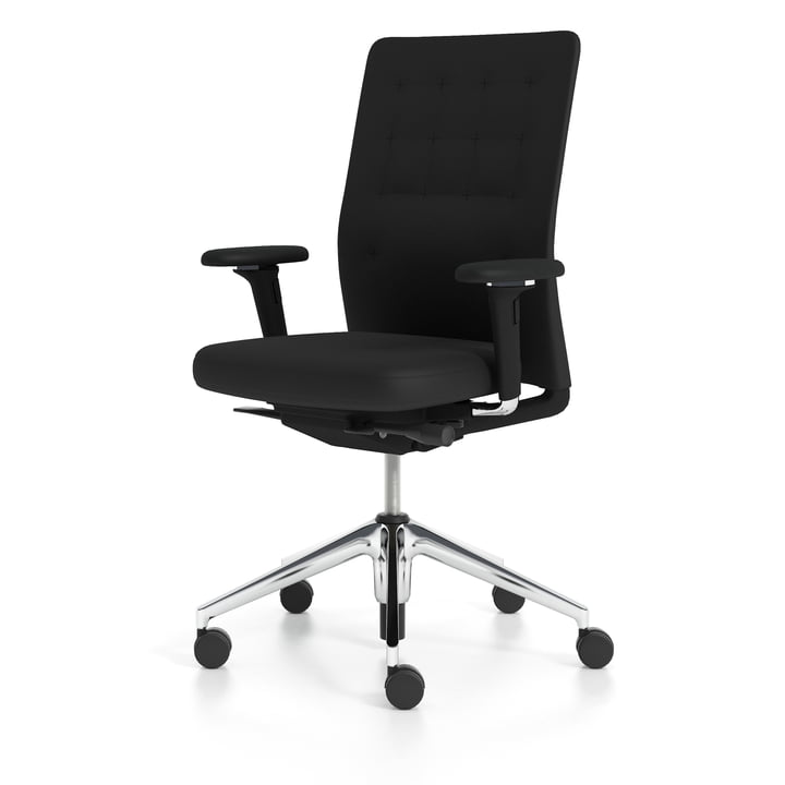 Vitra - ID Trim, nero / aluminium polished