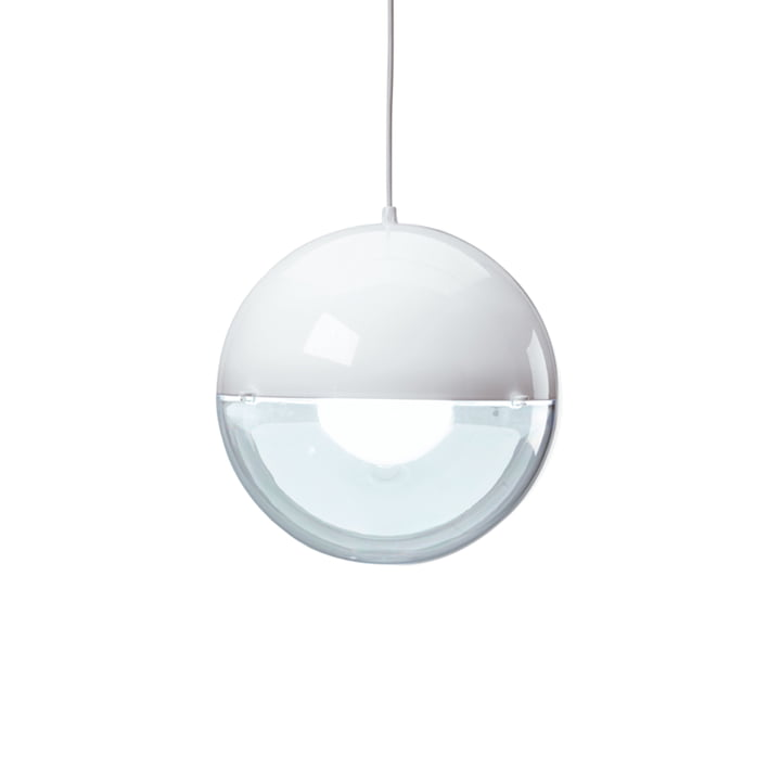 Koziol - Orion Pendant Lamp, solid white / transparent