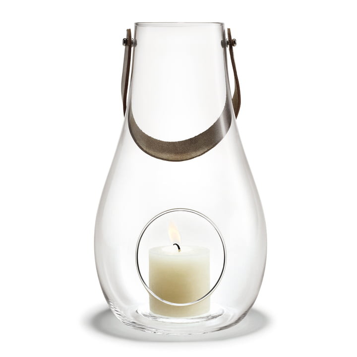 Design with light lantern H 29 cm from Holmegaard in clear