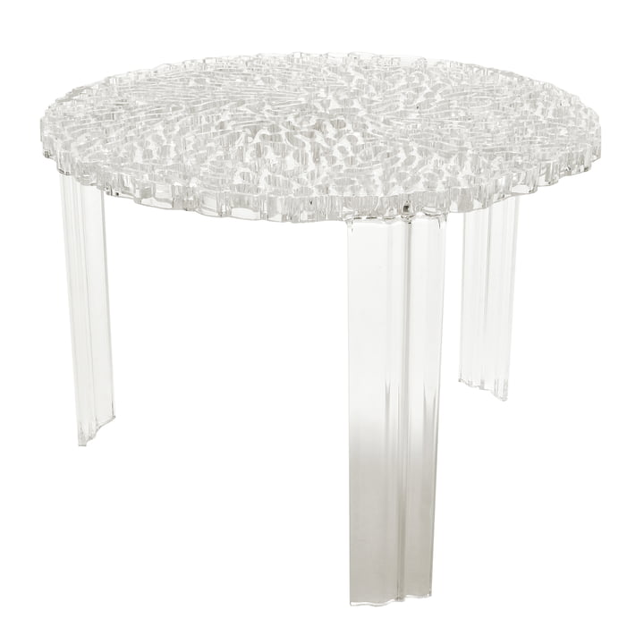 Kartell - T-Table, H 36 cm, crystal clear