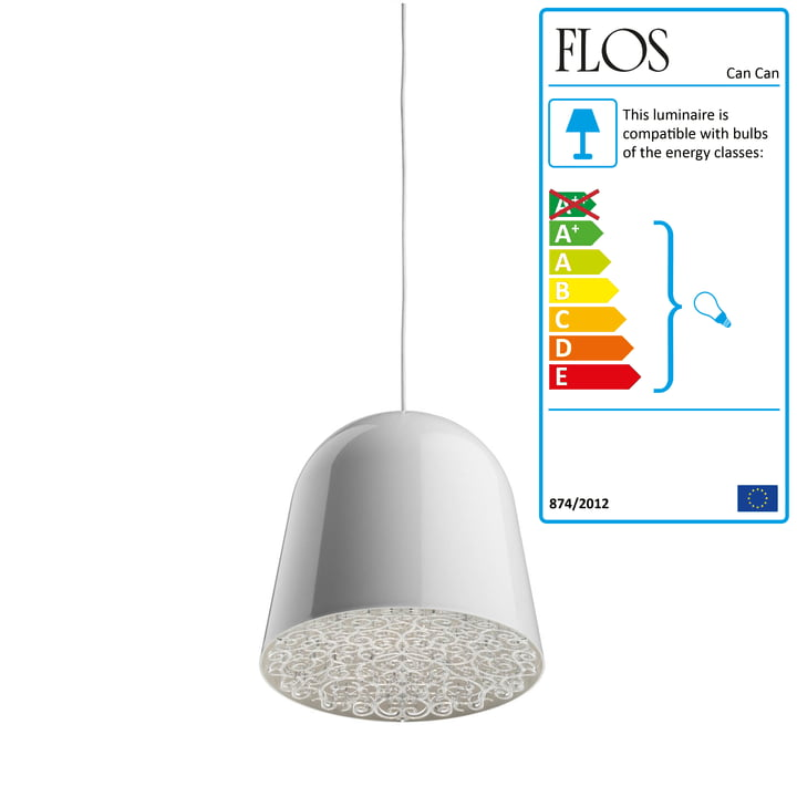 Flos - Can Can Pendant Lamp, white / transparent