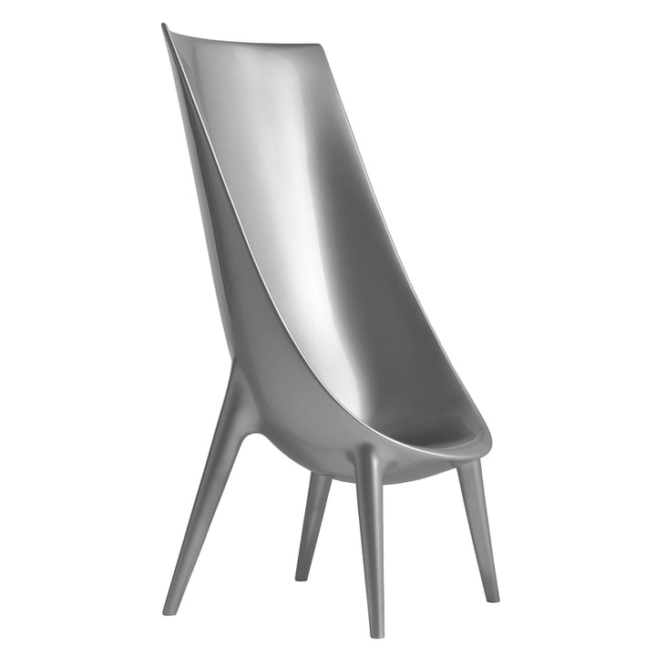 Driade - Out / In High armchair, silver lacquered