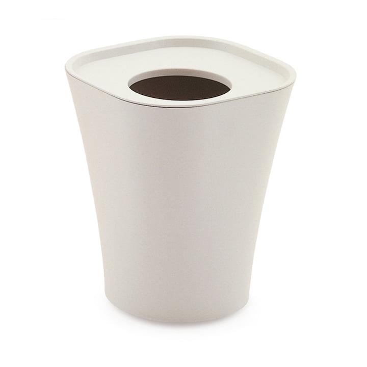 Trash wastepaper basket big by Magis in white