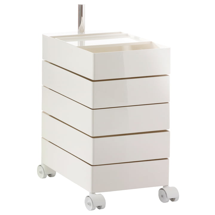 360° container 5 compartments from Magis in white