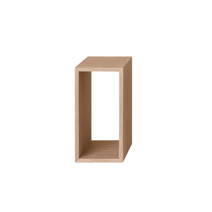 Muuto - Stacked shelving module - small, natural ash wood