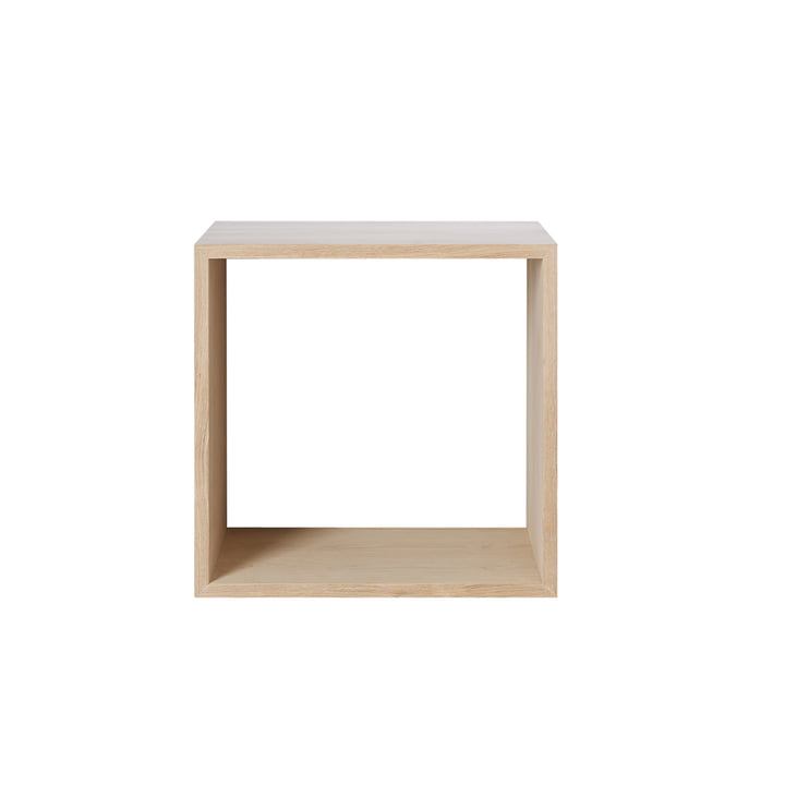 Muuto - Stacked shelving module - medium, ash wood natural