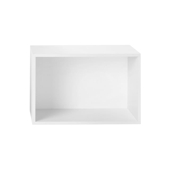 Muuto - Stacked Shelf module with back panel, large / white