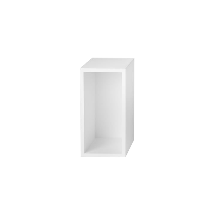 Muuto - Stacked Shelving Module - with backwall, small, white