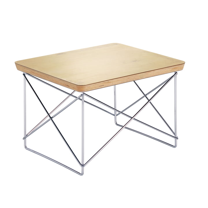 Eames Occasional Table LTR from Vitra in gold leaf / chrome