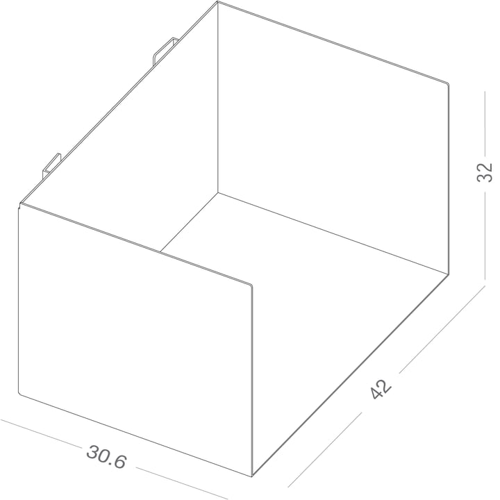 Dimensions of the c folder shelf by Linea1