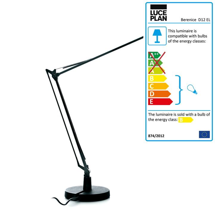 Luceplan - Berenice Table Lamp, black