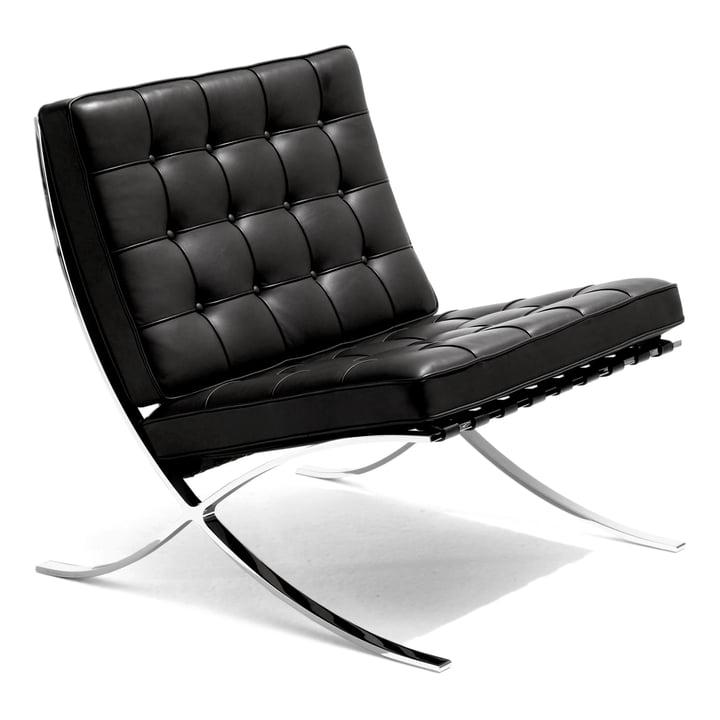 Knoll - Barcelona® Lounger, black