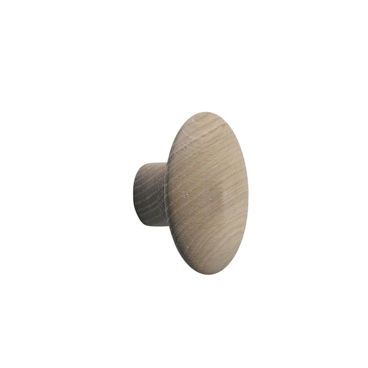 "Wall hook ""The Dots"" single small by Muuto in oak nature"