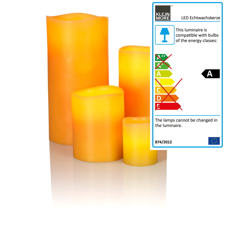 LED Real Wax Candle, bee wax