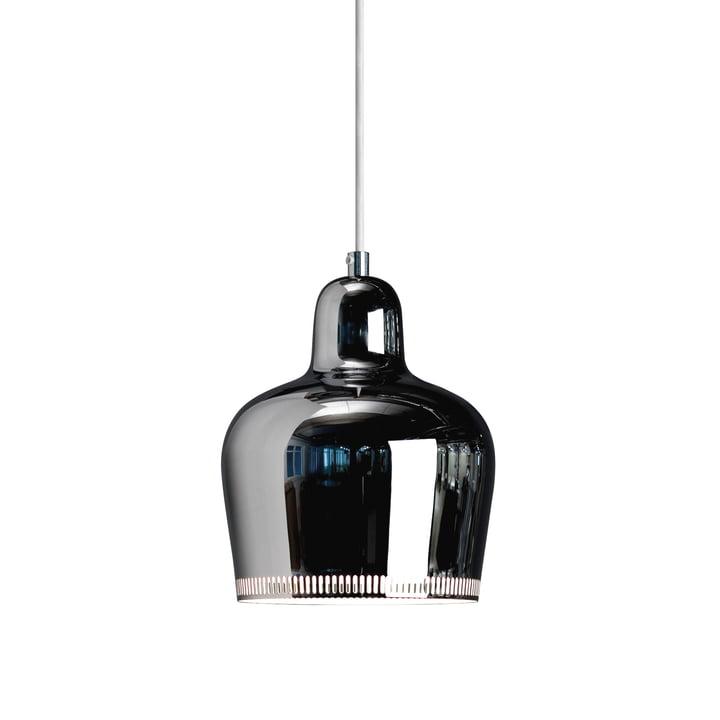 The pendant lamp A 330S Golden Bell from Artek , chrome