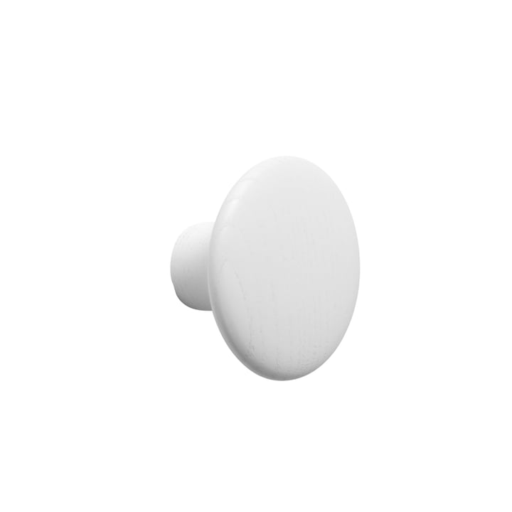 "Wall hook ""The Dots"" single small by Muuto in white"