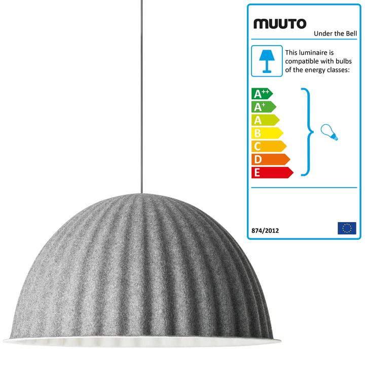 Muuto - Under the Bell Pendelleuchte, grey