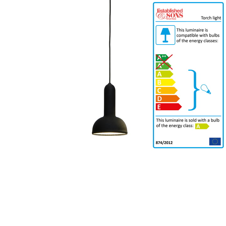 Established & Sons - Torch Light pendant lamp round black