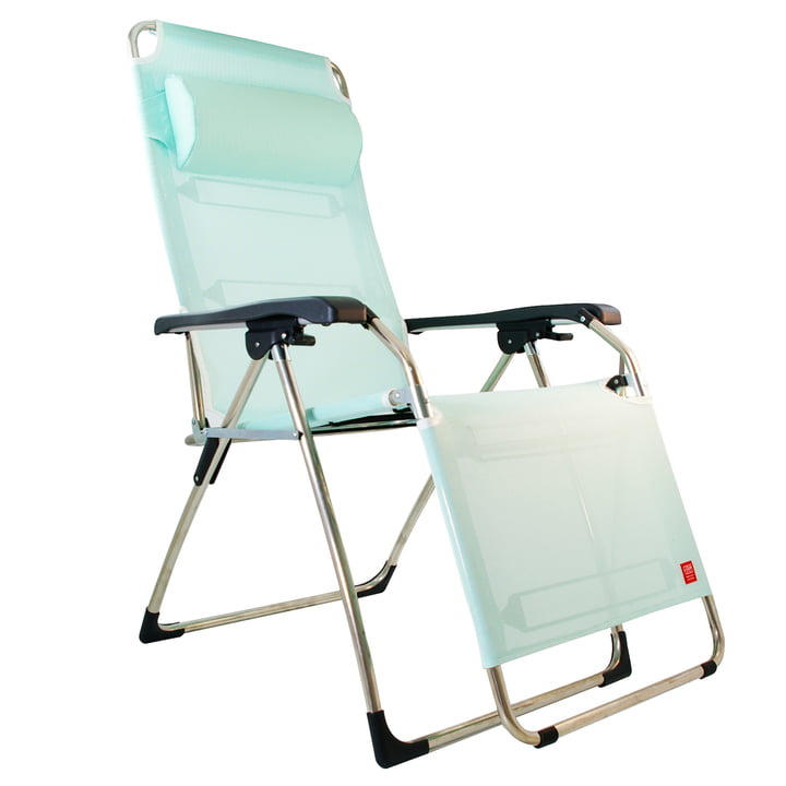 Amida Aluminium recliner from Fiam in aqua