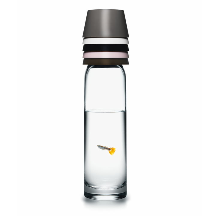 Normann Copenhagen - Cristal Carafe with five cups, with fish
