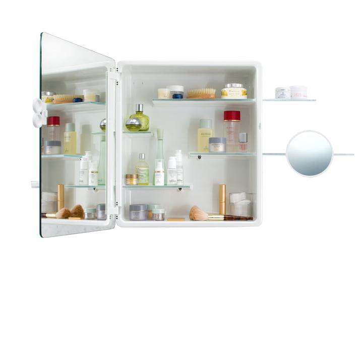 Authentics - Kali mirror cabinet open with feminine items