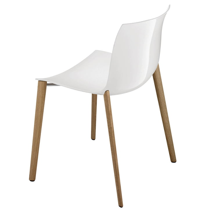 Arper - Catifa 53 chair, wood, Polypropylen, white