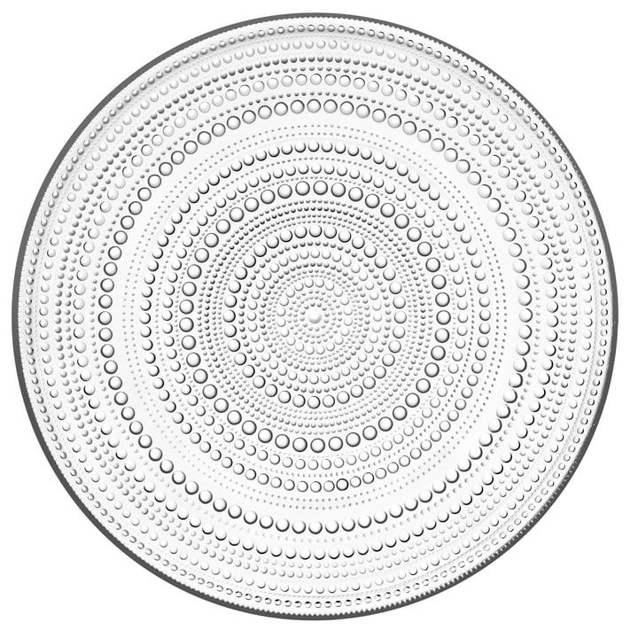 Kastehelmi Plate Ø 31,5 cm from Iittala in clear