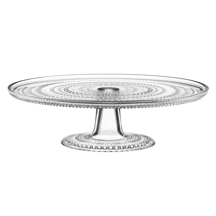 Kastehelmi Cake plate with foot 3 1. 5 cm from Iittala in clear