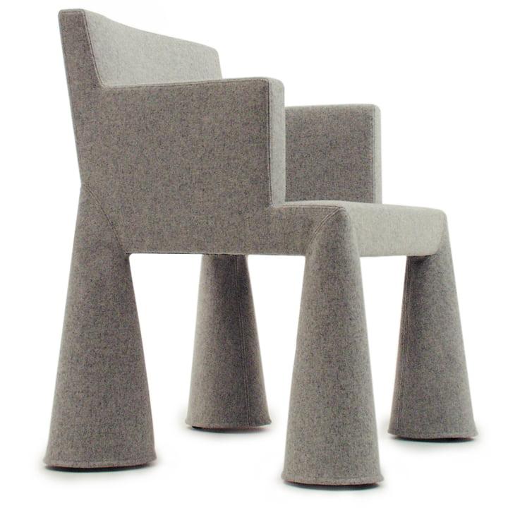Moooi - V.I.P. Chair, Kvadrat Divina Melange 2 180