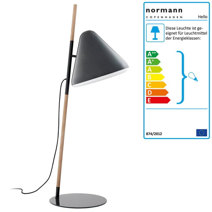 Normann Copenhagen - Hello Floor lamp, grey