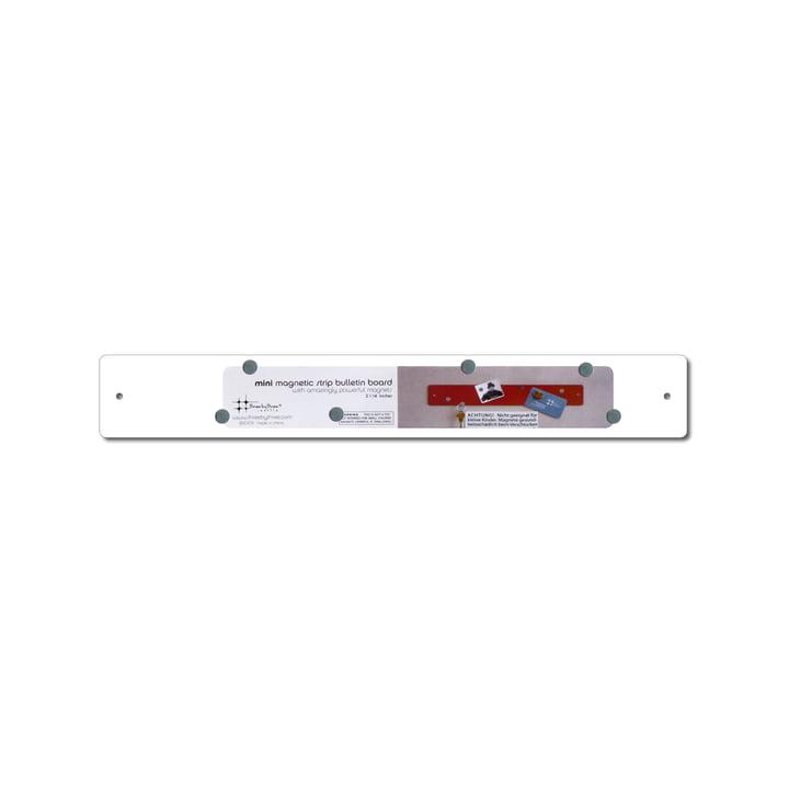 ThreeByThree - mini magnetic stripe 35 x 5 cm, white