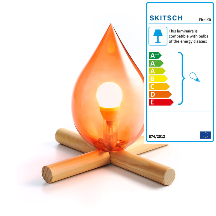 Skitsch - Fire Kit Ttable lamp