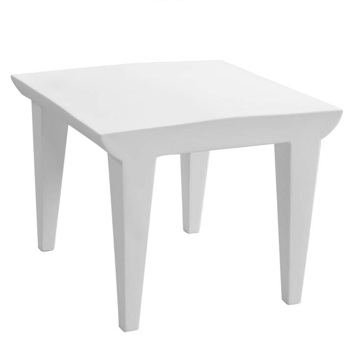 Bubble Club table zinc white