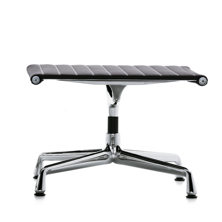 Vitra - EA 125 chrome stools, Hopsak, black plastic glides