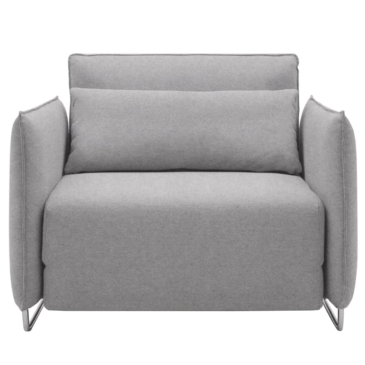 Softline - cord sofa chair, felt grey (620)