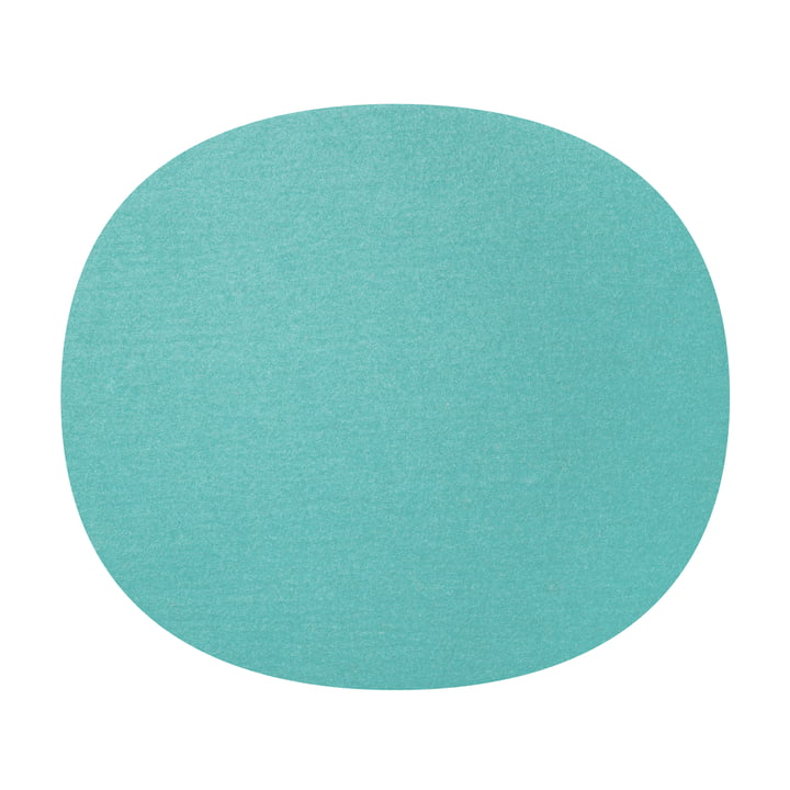 Hey Sign - felt seat Eames Plastic Side Chair, Pastel Turquoise