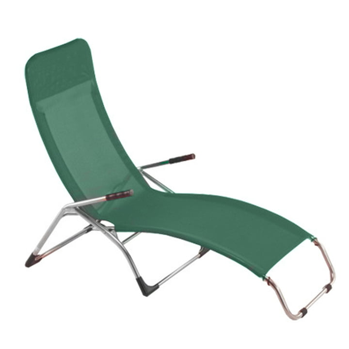Fiam - Terrace lounger Samba , aluminium / dark green