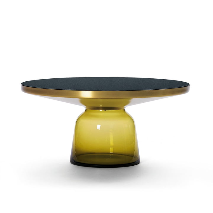 ClassiCon - Bell coffee table, brass / citrine yellow